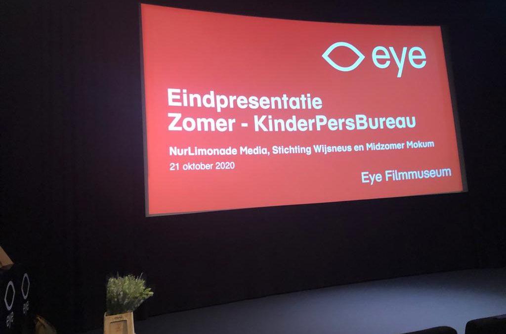 Eindpresentatie Midzomer Mokum in het EYE Filmmuseum!
