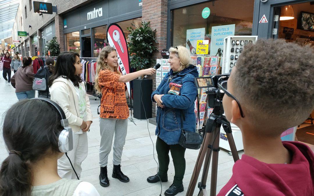 Interviews in het winkelcentrum Banne